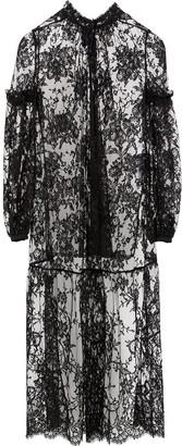 Alexander McQueen Sheer Lace Maxi Dress