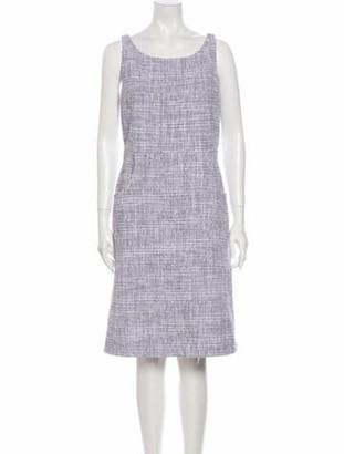 Chanel 2018 Knee-Length Dress Purple