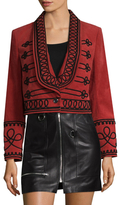 Temperley London Embroidery Cropped Blazer