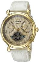 Thomas Earnshaw Men's 'Grand Calendar' Automatic Stainless Steel and Leather Dress Watch