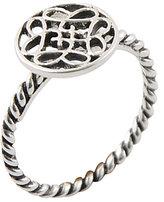 Calvary Sterling Silver J-Scroll Ring