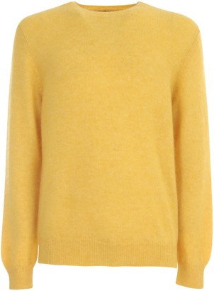 Original Vintage Style Alpaca Polyamide Sweater Crew Neck