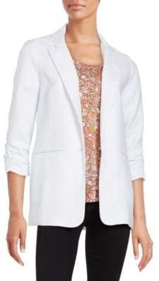 MICHAEL Michael Kors Linen One-Button Blazer