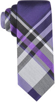 Alfani Men's Park Plaid Slim Tie, Only at Macy's