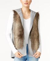 Tommy Hilfiger Carolina Hooded Faux-Fur Vest, Only at Macy's