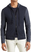 John Varvatos Color Block Zip Hoodie Sweatshirt