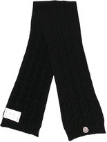 Moncler cable knit scarf - kids - Virgin Wool - One Size