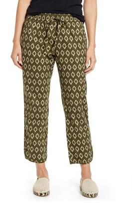 Caslon Print Drawstring Pants (Regular & Petite)