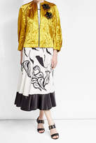 Roksanda Embellished Metallic Jacket with Cotton