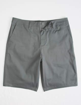 Rsq Long Twill Charcoal Mens Chino Shorts