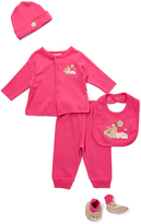Sweet & Soft Hot Pink Bear Five-Piece Set - Infant