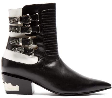 ca069752243 Buckle Ankle Boots Western - ShopStyle