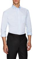 Armani Collezioni Solid Patch Pocket Dress Shirt