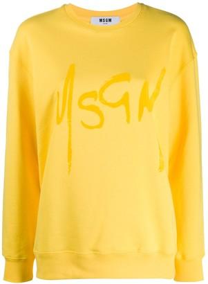 MSGM Logo Print Jumper