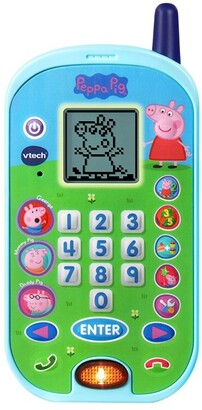 Vtech Peppa Pig Let's Chat Learning Phone with Educational Games, Voice Messages, Ringtones English