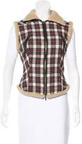 McQ by Alexander McQueen Plaid Sleeveless Vest
