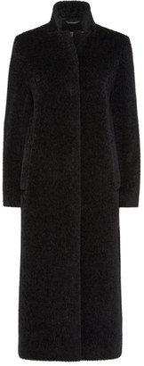 Cinzia Rocca Notched Collar Virgin Wool Coat