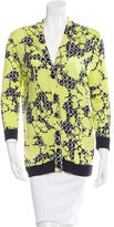 Balenciaga Printed Virgin Wool Cardigan