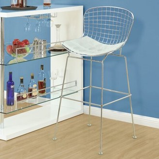 Modway Cad Bar Stool Upholstery: White