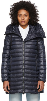 Moncler Navy Down Rubis Coat