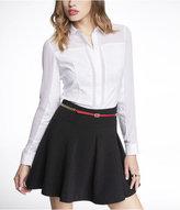 Express Long Sleeve Chiffon Inset Essential Shirt