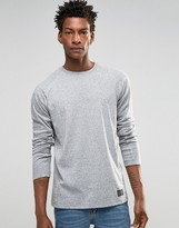 Solid Long Sleeve Top with Fleck