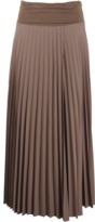 Brunello Cucinelli Jersey Waist Long Pleated Skirt