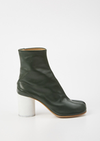 Maison Margiela green tabi boot