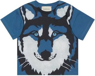 Gucci Baby wolf print T-shirt