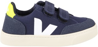 Veja Blue Sneakers For Kids With White Logo