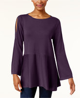 Style&Co. Style & Co Flared Split-Sleeve Sweater, Created for Macy's