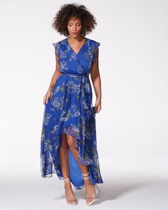 Vince Camuto Floral-print Ruffled Maxi Dress