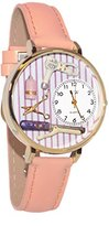 Whimsical Watches Women's G0630001 Beautician Pink Leather Watch
