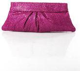 Lauren Merkin Magenta Pink Sequin Knit Small Clutch Handbag