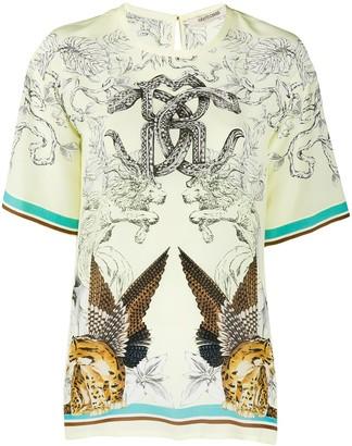 Roberto Cavalli Hybrid Animals print T-shirt