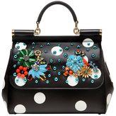 Dolce & Gabbana Medium Sicily Embellished Leather Bag