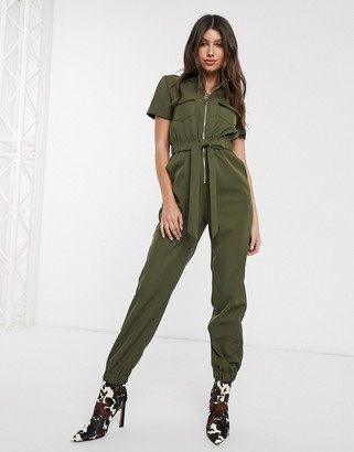 Parisian utility jumpsuit with zip front