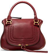 Chloé The Marcie Medium Textured-leather Tote - Burgundy