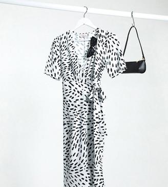 Blume Maternity wrap bodycon dress in mono print