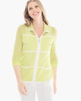 Chico's Lissa Mesh-Knit Jacket