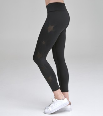 Mny Performance COMPRESSION LEGGING WITH MESH STAR CUTOUTS
