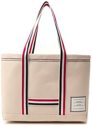 Thom Browne Striped Detail Tote Bag