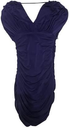 BCBGMAXAZRIA Blue Polyester Dresses