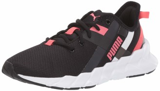 Puma Women's Weave XT Sneaker Black White-Calypso Coral 6.5 M US Big Kid