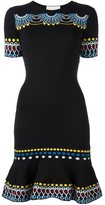 Peter Pilotto flared knitted dress - women - Polyamide/Viscose - S
