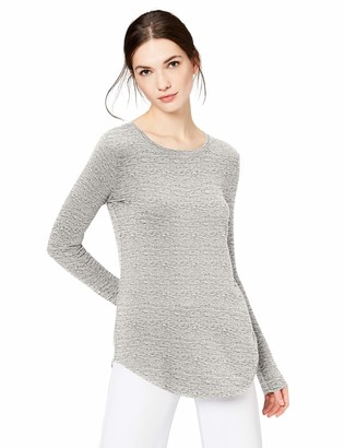 Daily Ritual Amazon Brand Women's Supersoft Terry Long-Sleeve Shirt With Shirttail Hem