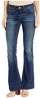Rock and Roll Cowgirl Extra Stretch Trousers in Dark Vintage W8-2547