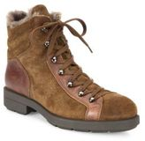 Aquatalia Lettie Suede, Leather & Shearling Hiking Boots