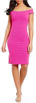 Eliza J Off-The-Shoulder Solid Sheath Dress
