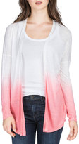 Lilla P Dip-Dye Long-Sleeve Cardigan, Shell Pink